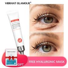 Peptyd kolagenowy krem pod oczy przeciw zmarszczkom usuń worek na oczy anty opuchlizny ciemne koła granulki tłuszczu pielęgnacja nawilżająca VIBRANT GLAMOUR