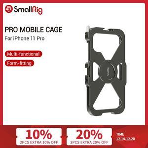 Image 1 - Smallrig Pro Mobiele Kooi Voor Iphone 11 Pro Vlogging Accessoire Mobiele Telefoon Kooi Met Koud Shoe Mount Vlog Schieten Kit  2471