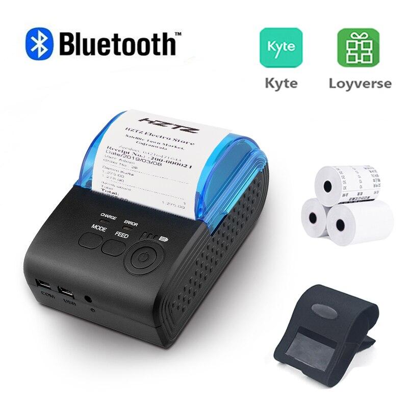 Portable Mini Bluetooth Printer Wireless Thermal Receipt Ticket Printer For Mobile Phone Window 58mm 2inch Pos Machine