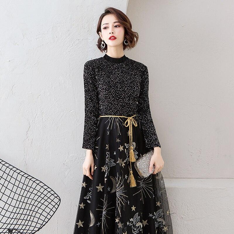 Oversize-3XL-Exquisite-Women-Dress-Evening-Party-Starry-Sky-Gowns-Black-Gorgeous-Sequins-Winter-Long-Sleeve (2)