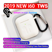 Original 2019 Aire 2 i60 Tws Bluetooth Earphone Ture Wireless Earbuds Touch Control Headset Headphone Para Elari Nanopods i2000(China)