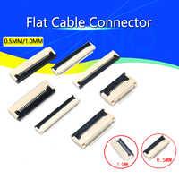 10 Uds 0,5mm/1mm bajo zócalo en forma de concha FPC plano FFC conector de Cable 4P 5, P 6P 8P 10P 12P 14P 16P 20P 22P 24P 30P 34P