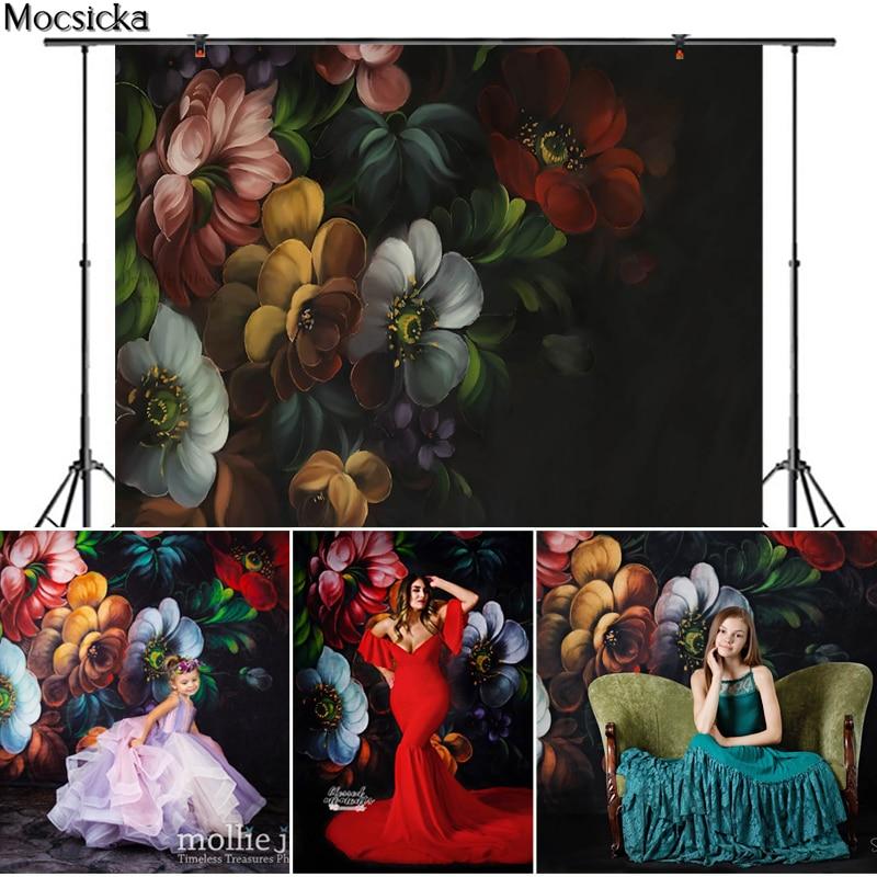 Mocsicka Fine Art Blooming Flowers Photography Background Newborn Child Pregnant Woman Portrait Photo Backdrop Decoration Props