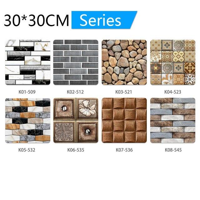 3D Wall Paper Marble Brick Peel 6