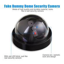 Муляж поддельные наблюдения безопасности купольная камера мигающий красный светодиодный светильник стикер