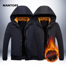 Winter Dikke Parka Mannen Capuchon Jassen 2019 Fleece Warm Parka Jas Merk mannen Jassen Outdoor Sporting Suit Plus 4XL(China)