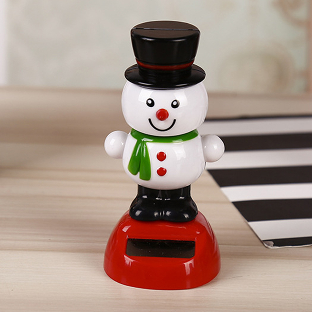Toy Children Decoration Shake Head Cute Car Christmas Party Solar Energy Doll OrnamentsElectronic Toys
