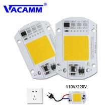 Ampoule COB intégrée LED, ac 220/110V, 30W, 50W, lampe à Led, avec pilote IC intelligent, lumière blanche chaude, projecteur bricolage