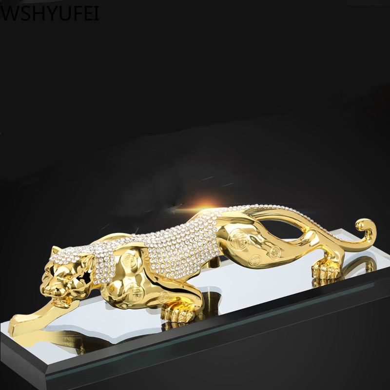Traditional Tiger model decoration Wealth success metal Decoration Home Office Decoration Tabletop Ornaments Car accessories