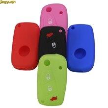 цена на 3 buttons Luminous OPT Silicone Car Key Case Cover for FIAT /Panda /Stilo /Punto /Doblo /Grande /Bravo 500 Ducato /Minibus