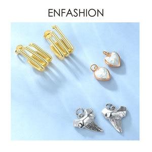 Image 5 - ENFASHION Punk Multiple C Shape Stud Earrings For Women Gold Color OL Minimalist Geometric Earings Fashion Jewelry E191079
