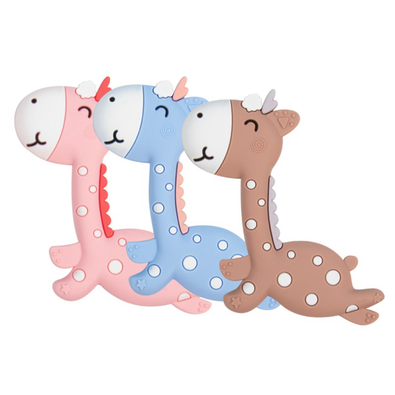 Baby Teether Silicone BPA Cartoon Giraffe Shape Free Safe Chew Charms Infant Teething Teeth Gift Toys New Hanging Toys For Baby1