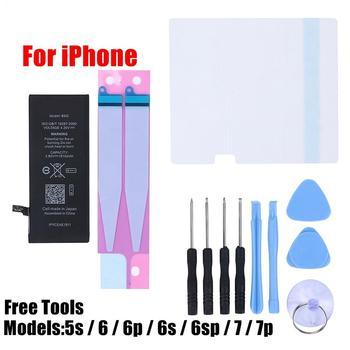 Batería de teléfono móvil de repuesto para iPhone 5s, 6, 6s, 7, 8 Plus, X, XS, XR, batería interna de repuesto, Kit de herramientas gratuito