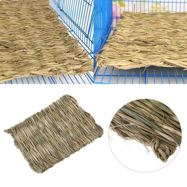 Rabbit Grass Chew Mat Small Animal Hamster Guinea Pig Cage Bed House Pad 2
