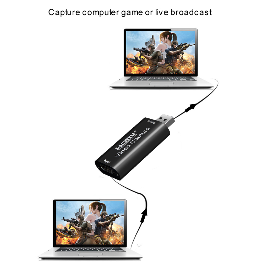 USB Grabber Record Box 4K HDMI-compatible To USB 3.0 2.0 Video Capture Card 1080P 60Fps for PS4 Game Recording Live Streaming 4