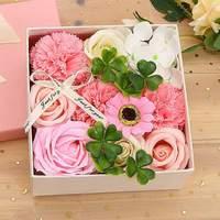 Мягкое искусственное мыло с лепестками цветок украшение дома подарок на день матери Роза Гвоздика декоративные гортензии цветок