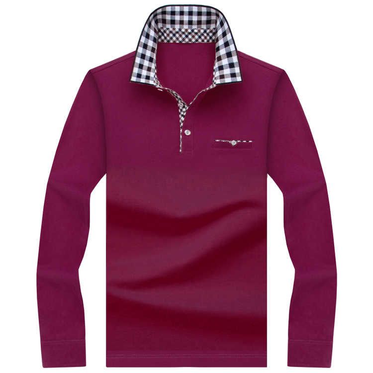 SHABIQI Классическая брендовая мужская рубашка, Мужская рубашка поло, Мужская рубашка поло с длинным рукавом, дизайнерская рубашка поло размера плюс 6XL 7XL 8XL 9XL 10XL