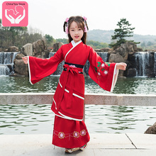 Children's Hanfu Tang Suit Costume Embroidered Clothing Chinese Embroidery Clothing Baby Clothes Polyester hua yang nian hua gorgeous tailed tang embroidery princess hanfu mum daughter sets children s day stage performance hanfu
