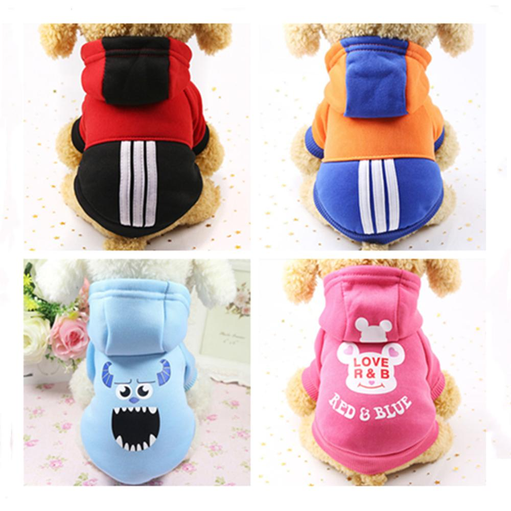 Fashion Cute Clothing For Dog Winter Warm Clothes Pet Hoodie Clothes Jacket Clothing For Dog Chihuahua Pet Cat Warm Dogs