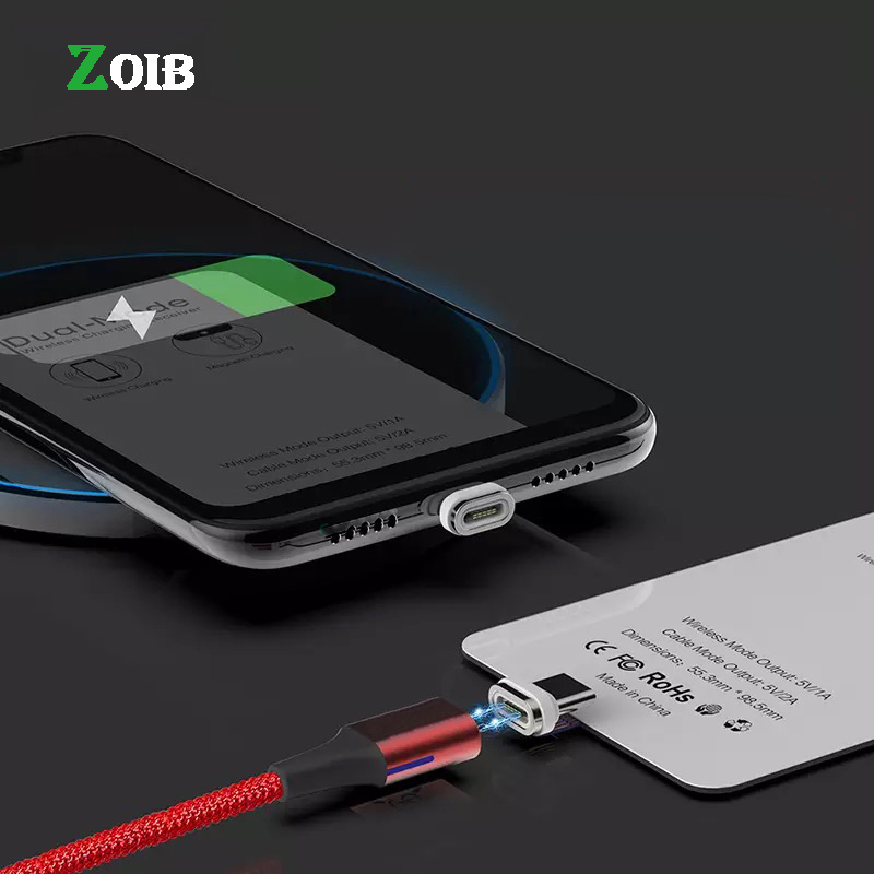 Qi Magnetic Wireless Charging Receiver For IPhone Type-C Micro USB 2 IN 1 Dual-Mode Wireless & QC3.0 Wired Fast Charging Module