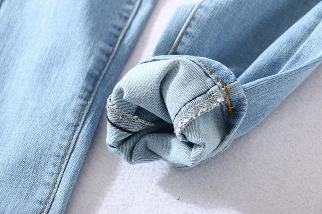Four Buttons High Waist Pencil Jeans  6