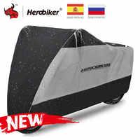 HEROBIKER Moto couverture extérieure Uv protecteur Scooter couverture vélo étanche à la poussière Moto pluie couverture intérieure serrure-trous conception