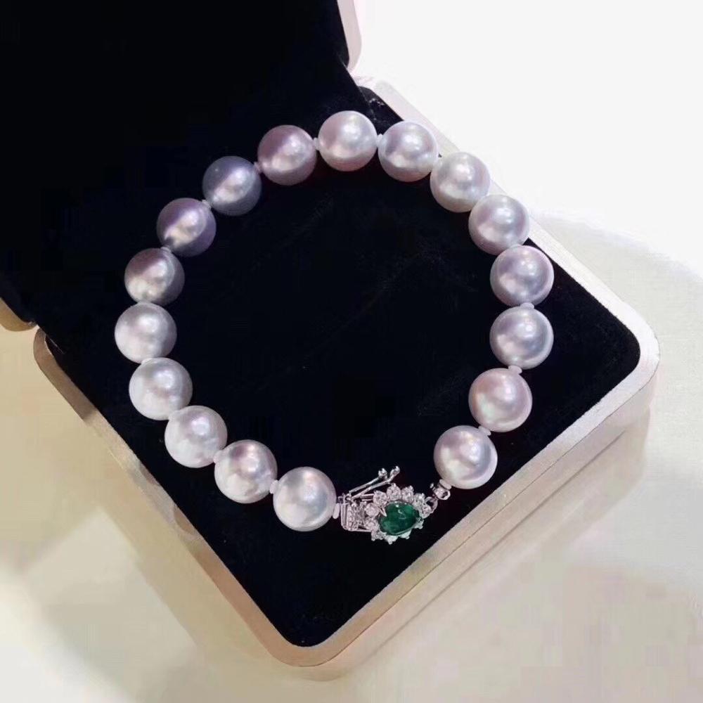 D115 Pearls Bracelets Fine Jewelry 9-10mm Natural Fresh Water White Pearls Bracelets for Women Fine Pearls Bracelets