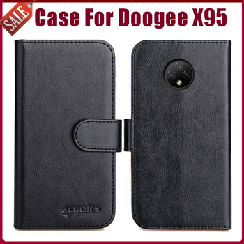 """Hot! Doogee X95 Case 6.22"""" Fashion 6 Colors Flip Soft Leather Phone Wallet Cover For Doogee X95 Case Card Solts"""