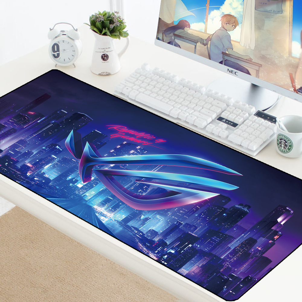 Large Mousepad Keyboard Pad Locking Edge Rubber Laptop Notebook Desk Mat Republic Of Gamers Office Mouse Pad For CS GO Game