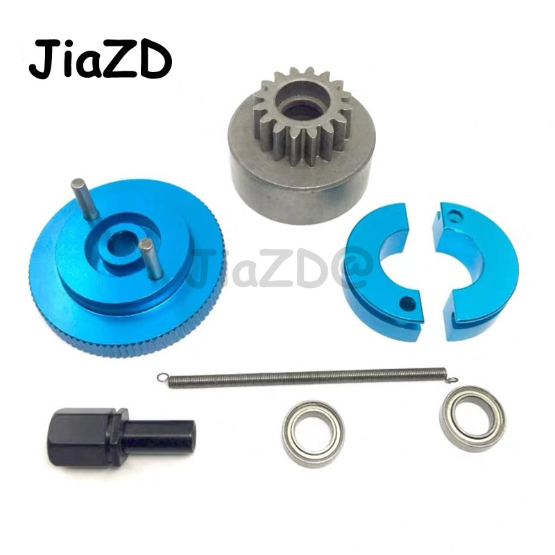 1Set Complete Flywheel Clutch bell 14T & Shoes Spring Ball Bearing