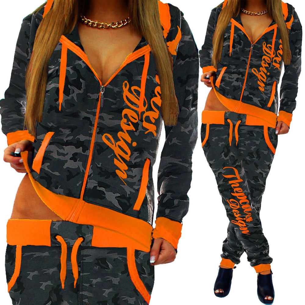 ZOGAA 2 Piece Set Women Casual Sports Set Tracksuits Pullover Top Shirts Jogging Suits Print Sportswear Hooded Sweatshirt Pants