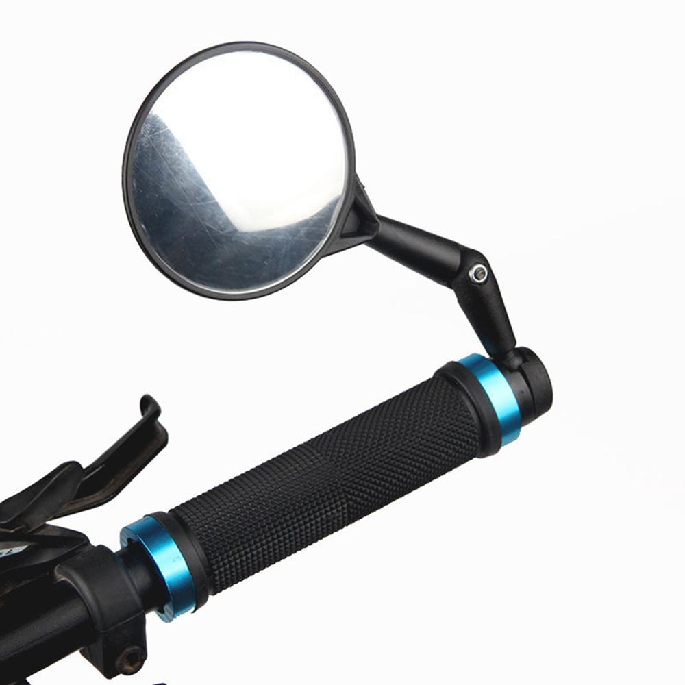 1 Pair Practical Bicycle Handle Bar End Mirrors 360 Rotating Bike Side Rearview Mirrors Cycling Accessories Parts