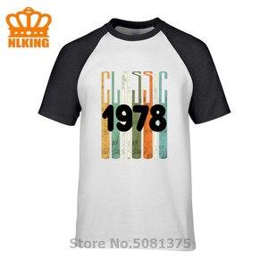 Сделано в 1978 году, все оригинальные части Уникальный 42th день рождения, футболка Классическая рубашка 1978 подарок идея футболки мужская одежд...