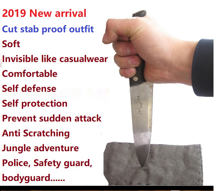 Image 2 - 2019 Self defense anti cut PU leather jacket stab resistant clothing stealth civil using police Self protection cut proof blouseJackets   -