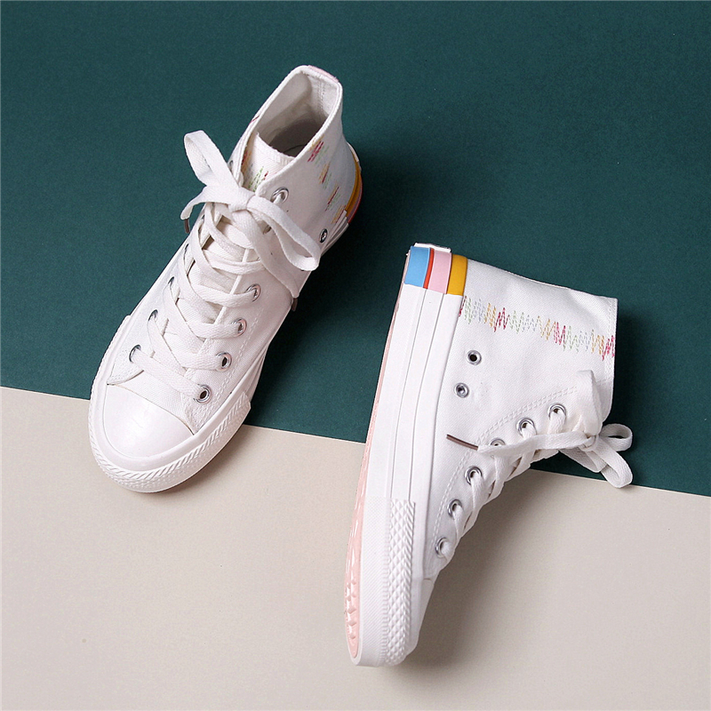 Women's Vulcanize Shoes 2020 Spring Breathable Canvas Women's Shoes New Trend Flats Sneakers Casual Comfortable Women Shoes