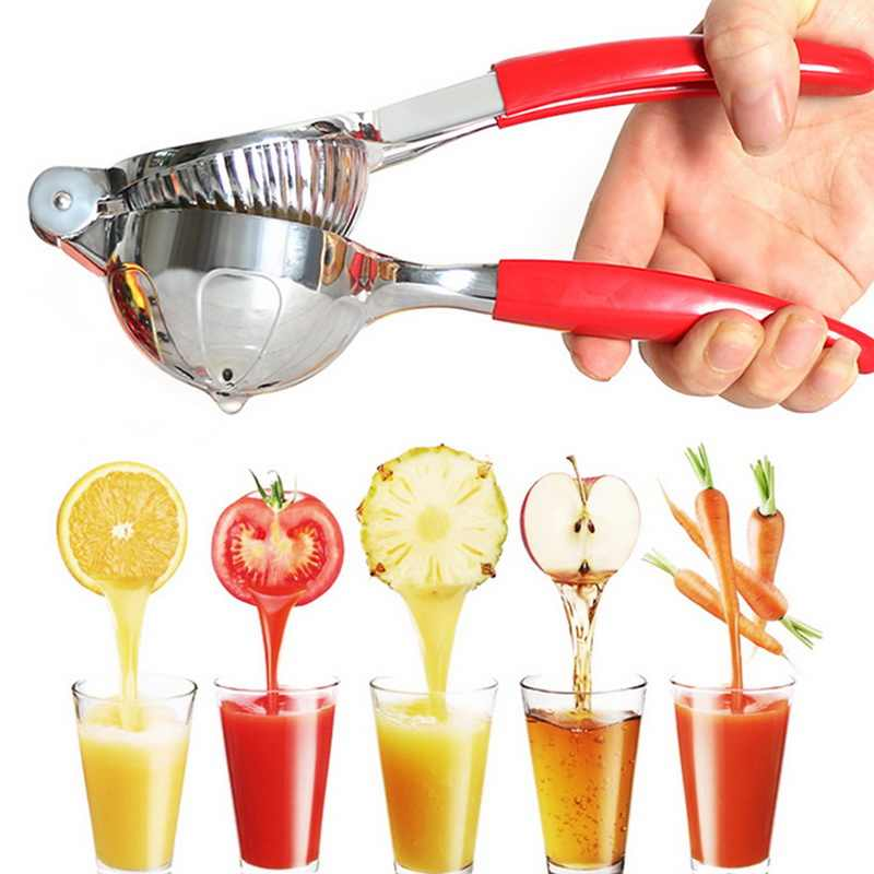 Stainless Steel Manual Tangan Tekan Lemon Jeruk Juicer Jeruk Pemeras Dapur Bar Dapur Prosesor Gadget Masakan Tools #15