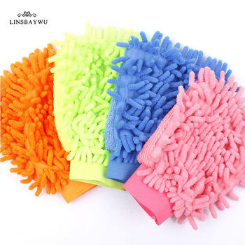 LINSBAYWU Super Mitt mikrofibra okno samochodu mycie sprzątanie domu tkaniny Duster ręcznik rękawice środek czyszczący do domu narzędzie tanie i dobre opinie CN (pochodzenie) 70-100g Y2Y04 Średni POLIESTER CZYSZCZENIE COTTON Car Cleaning Glove Washing Gloves Cleaning Towel Dish Cloth