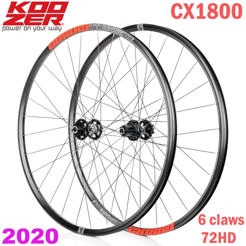Cyclocross Alloy Clincher Wheels KOOZER CX1800  6 Bolt 700C Disc Brake Wheelset