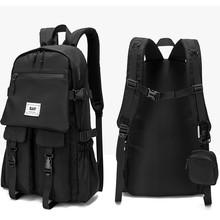 Nowe nylonowe plecaki plecaki o dużej pojemności dla Unisex wodoodporne plecaki mężczyźni kobiety plecaki powrót do szkoła podróże plecak tanie tanio ANGIETPYE CN (pochodzenie) wytłoczone Miękka osłona Poniżej 20 litrów Otwór na wyjście Wewnętrzna kieszeń na zamek błyskawiczny