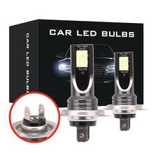 2 pçs h7 led farol kit 5000lm 40w oi ou lo feixe lâmpadas 6000k branco ip 68 à prova dwaterproof água led farol acessórios do carro