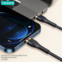 USAMS PD 20W Fast Charging USB Type C Cable For iPhone 12 Pro Max 11 Xr Xs 8 Plus ipad mini air Macbook USB C Charger Date Cable