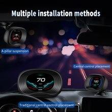 Auto Elektronische Spannung Alarm P20 OBD 2 II GPS Auto HUD GPS Navigation Tacho Auto Überdrehzahl Alarm System