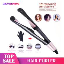 2 in 1 Twist Hair Curling & Straightening Iron Hair Straight