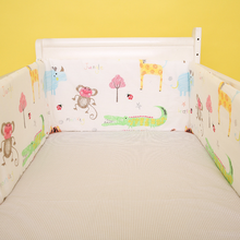 Crown Pattern 180*30 cm Crib Bumpers U/L Shape Baby Bedding Set Cot Around Protector Newborns Bed Head Protect Cushion One Piece