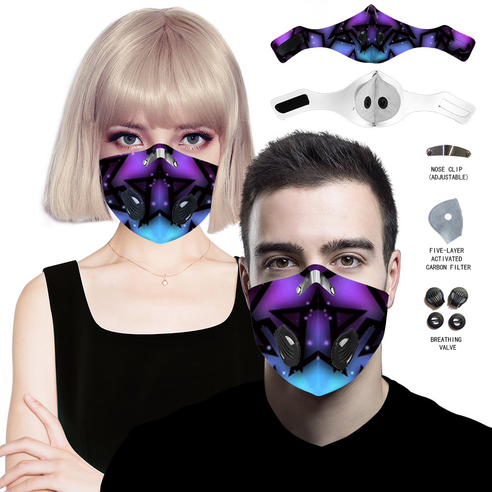 22Style Respirator Bicycle Bike Mask Activated Carbon Filter Anti Dust Sport Woman Man Mouth Neck Gaiter Cover Cycling Face Mask
