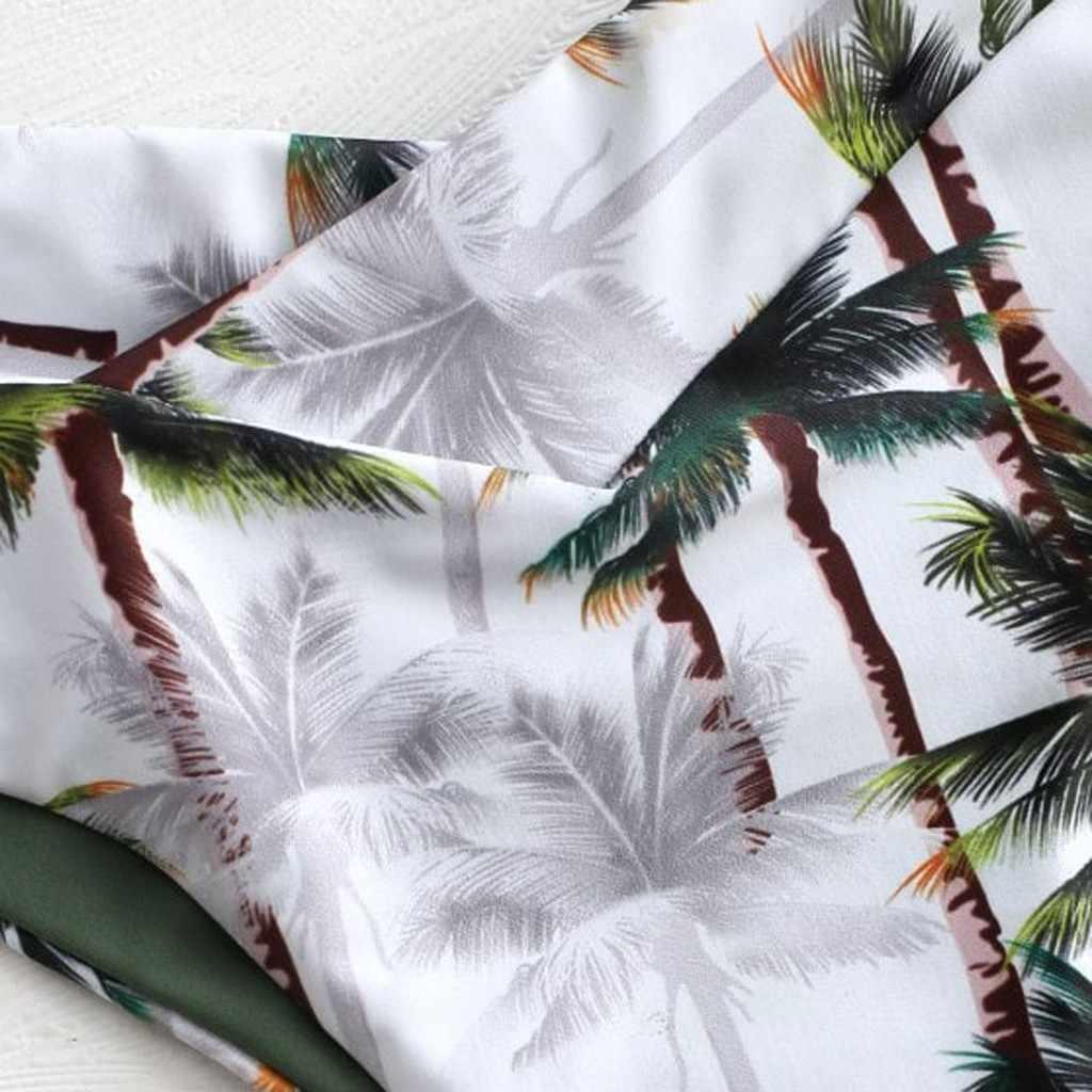 Telotuny sexy conjunto de biquíni feminino sexy coconut prints acolchoado banho maiô beachwear e cobrir conjuntos
