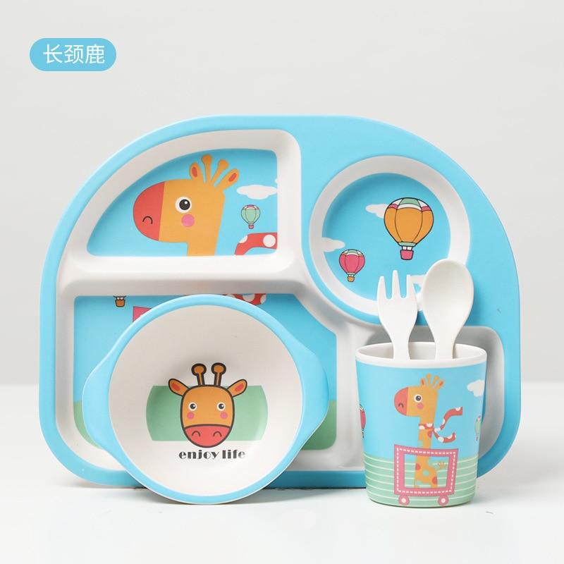 pratos de comida criancas louca com tigela copo colher garfo prato 03