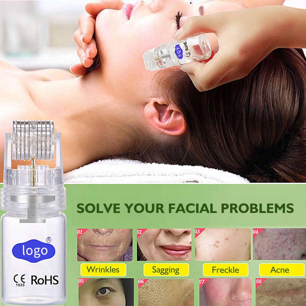 540 Derma rulo mikro iğne titanyum Mezoroller Dermaroller Microneedle terapi vücut yüz bakımı özü ithalat