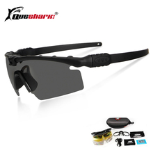 Queshark Army BALLISTIC 3.0 Protection Military Glasses Paintball Shooting Goggl
