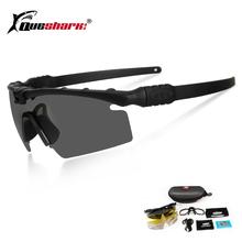 Queshark Army BALLISTIC 3 0 ochrona wojskowe okulary Paintball strzelanie gogle taktyczne spolaryzowane okulary oprawki do okularów korekcyjnych tanie tanio QE40 Night vision